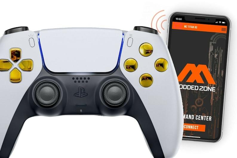 FPS mods COD Warzone WhiteGold PS5 SMART Custom Rapid Fire Modded Controller