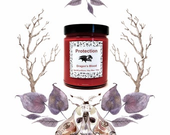 Dragon's Blood Protection Candle