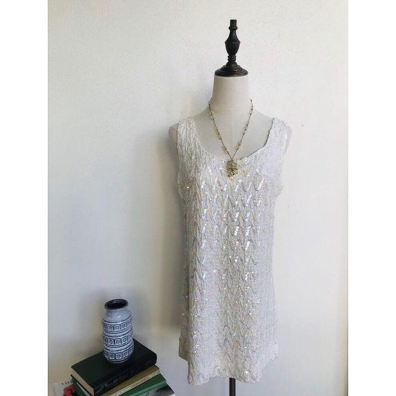 1960s Mod Sequin Vintage Dress by Oivieto Women's
