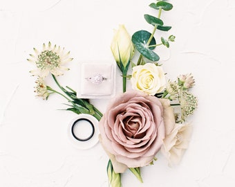 White Ring Plate, Flat Lay Styling Kit, Props for Photographers
