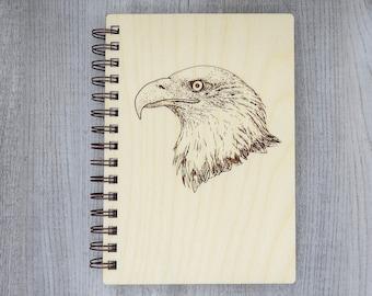 Bald Eagle Journal   Wood Engraved Journal   Writing Journal   Eagle Journal   Nature Journal