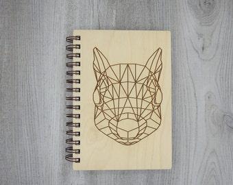 Geometrical Squirrel Journal   Wood Engraved Journal   Writing Journal   Nature Journal