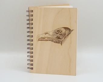 Turkey Vulture Journal   Wood Lined Notebook   Birdwatching Natural Journal   Gift for Birdwatcher   Writing Journal