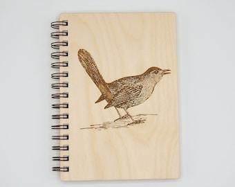 Gray Catbird Journal   Writing Journal   Vision Journal   Birdwatching Wood Lined Art Notebook