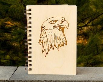 Bald Eagle Journal   Wood Engraved Journal   Writing Journal   Nature Journal   Wood Journal
