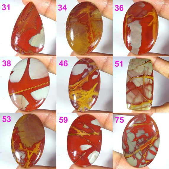 Amazing Noreena Jasper Cabochon Designer Natural Noreena Jasper Gemstone D-5539 Handmade Noreena Jasper Loose Stone For jewelry 34 Cts