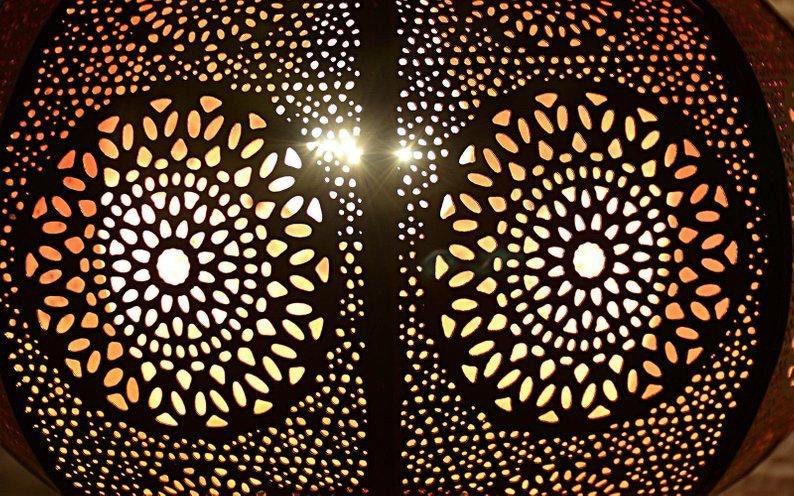 20x10 Vintage Design Indian Vintage Look Floor Desk Night Table Moroccan Bedside Home Metal Lamp Inside On The Table Oriental Home Decor