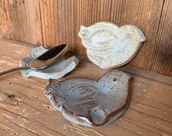 Bird Tea Bag holder, Hand made pottery
