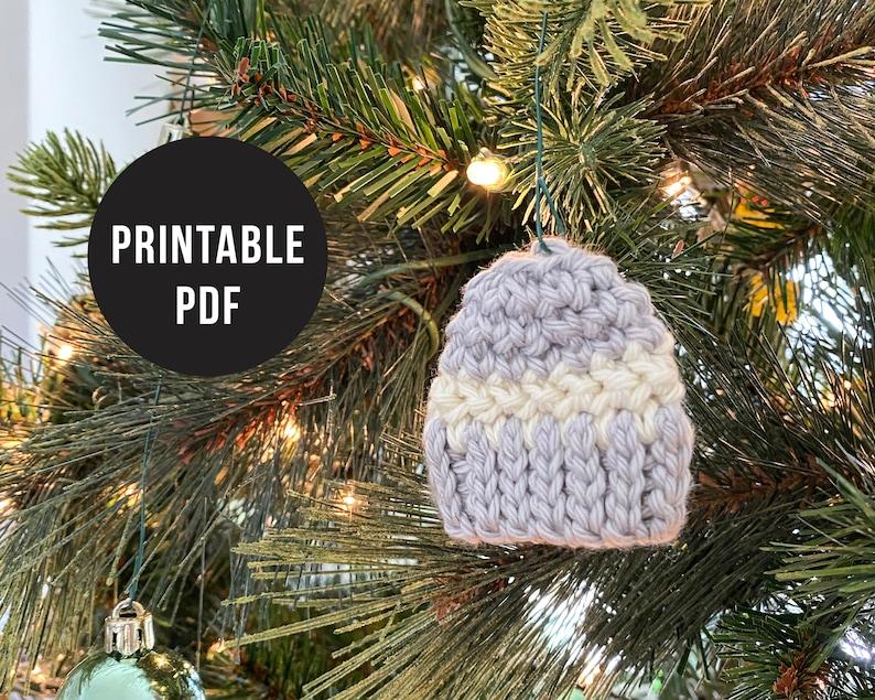 Digital Download Mini Crochet Beanie Ornament Pattern PDF only