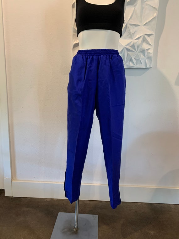 Vintage Silk High-Waisted Track Pants