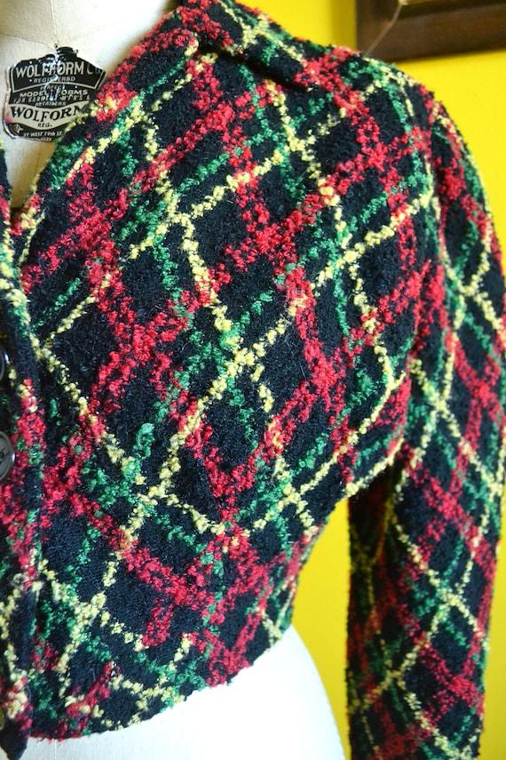 40s/50s Cropped Knit Bolero Shrug Jacket - image 7