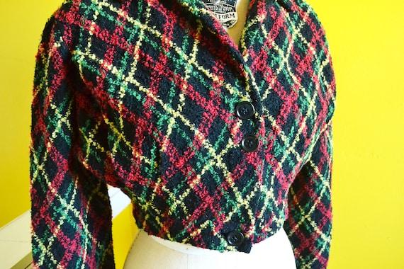 40s/50s Cropped Knit Bolero Shrug Jacket - image 4