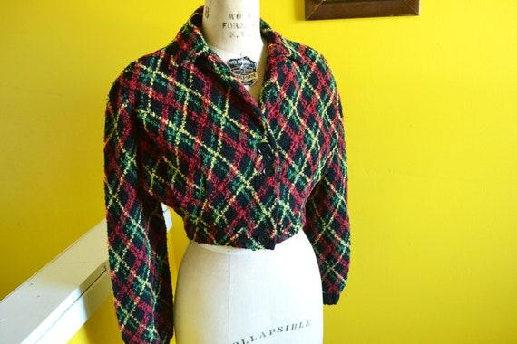 40s/50s Cropped Knit Bolero Shrug Jacket - image 3