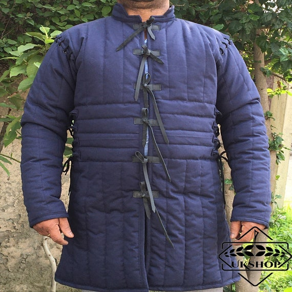 Medieval Thick padded Gambeson coat Aketon Jacket dress costumes Armor sca larp