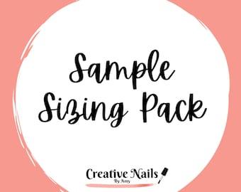 Sample Sizing Pack | False Nails | Fake Nails | Glue On Nails | Press On Nails | Coffin Nails | Square Nails | Stiletto Nails | Oval Nails