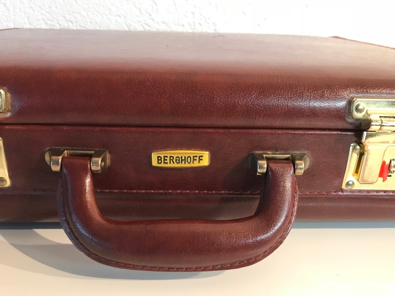 Elegant Brown Travel Bad or Holdall by Berghoff 1970s Germany