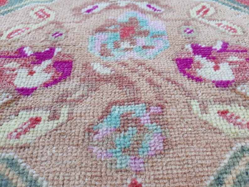 Small Entry Rug Small Oriental Rug 1.8 x 3.8 ft Bathroom Rug Small Vintage Rug Red Doormat Rug Small Turkish Rug Red Small Rug