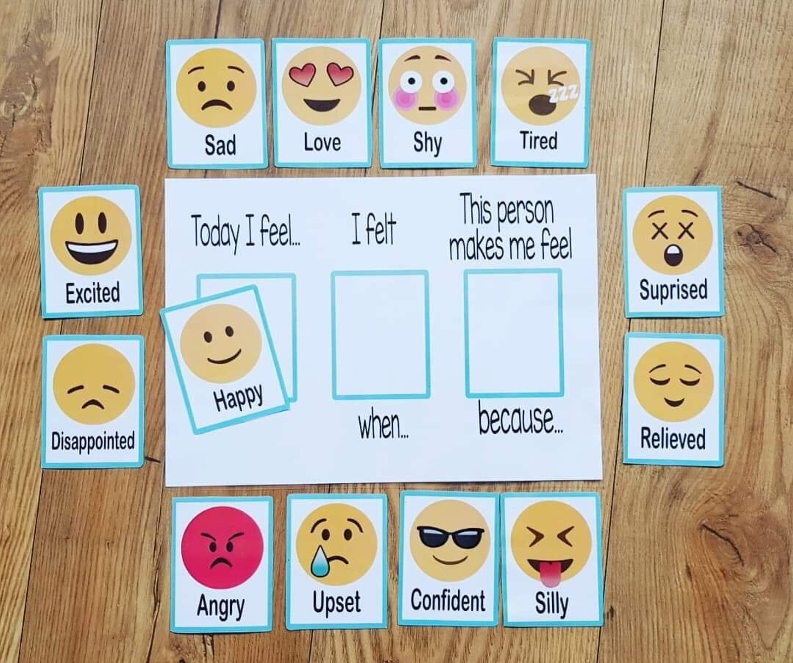 Feelings and Emotions Flash Cards