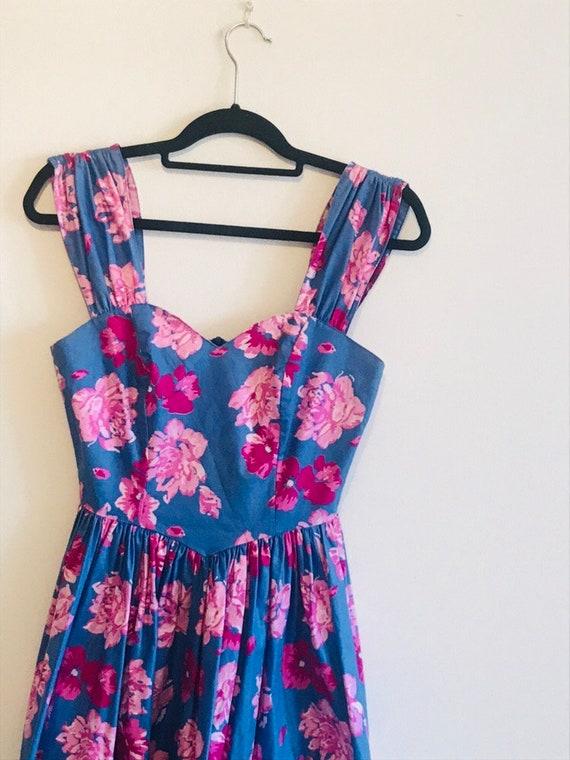 Vintage 80s Laura Ashley floral dress