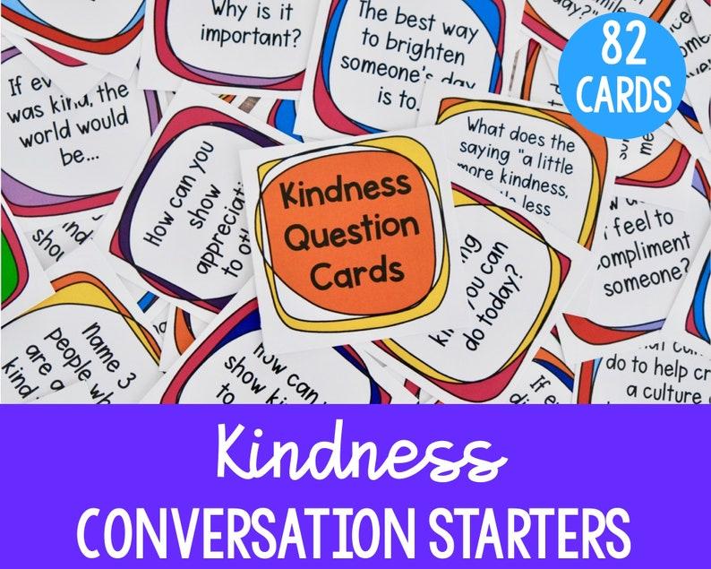 Printable Kindness Conversation Starters image 0