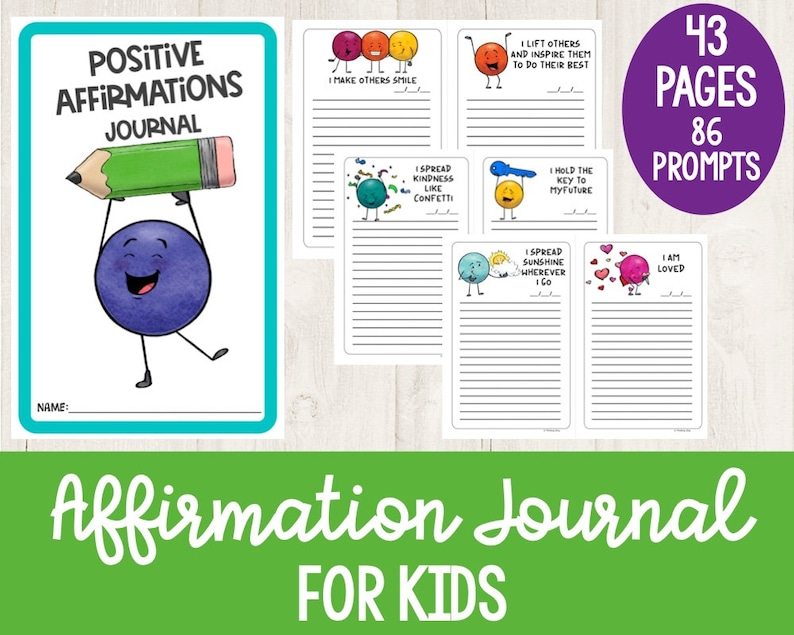 Affirmation Journal for Kids  Mindfulness and Positivity image 1