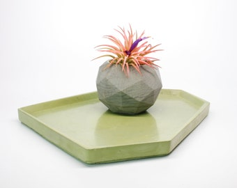 Medium Irregular Rectangle Tray  24+ colors / Large Tray / Trinket / Table Decor / Catchall / Decorative Tray / Candle Tray / Concrete Tray