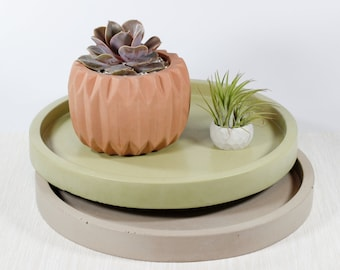 11.5 Inch Round Tray 24+ colors / Jewelry Display  / Table Decor / Fruit Tray / Decorative Tray / Candle Tray / catch all
