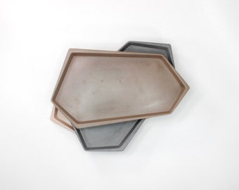 Small Irregular Rectangle Concrete Tray in 24+ colors