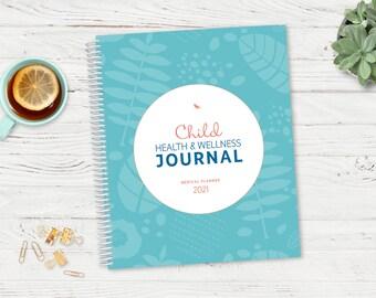 Child Medical Diary / ADHD Diary /  2021 Dated Symptom Tracker / Medication Diary / Behavior Journal / Child / Medical DiaryHealth