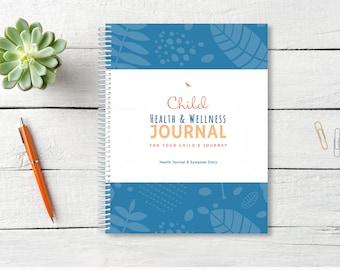 Child Health Journal / Health Diary / Tracker / Journal / Medical Organizer / Medication Diary / ADHD planner / Chronic Illness