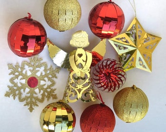 Magic Ornaments Starter Set 10 ct Red & Gold