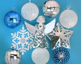 Magic Ornaments 10 ct Silver, White, & Blue Starter Set