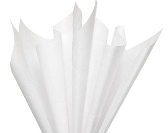 White Tissue Paper 10.5 x 5.5 inches (15 x 27 cm) Bulk 17 gsm Plain