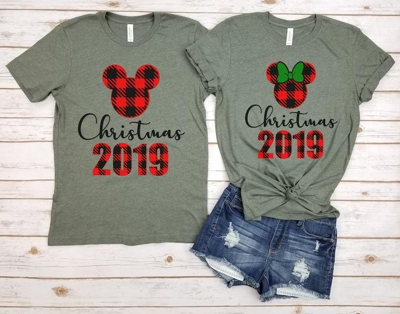 Disney shirts Disney holiday shirt Christmas 2019 Mickey and Minine Buffalo couples Disney Christmas Shirt,Disney couple Couples Tshirt