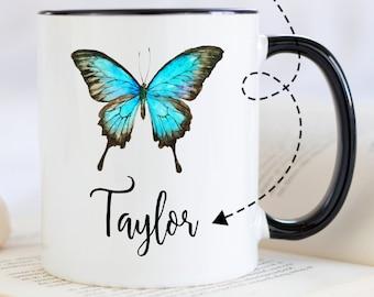 Mug Cozy ~ Blue Butterflies