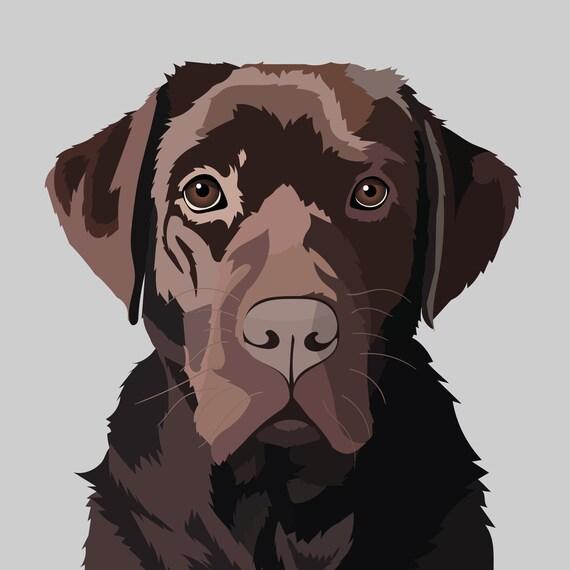 Cartoon Pet Portrait Custom Made Art Of Your Dog Cat Horse Etsy