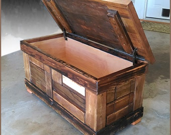 Reclaimed Wood Hand Crafted Chest