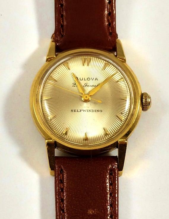 Bulova 14k Gold Vintage Men's Watch, 1960's