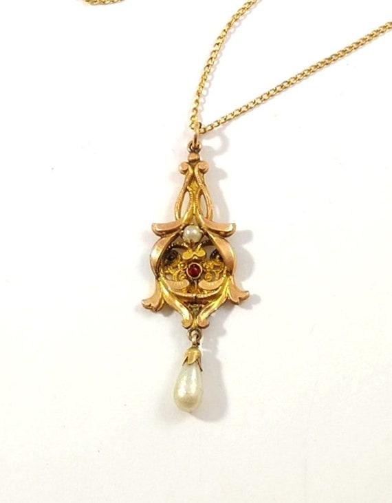 Victorian Lavalier Necklace, 1900's
