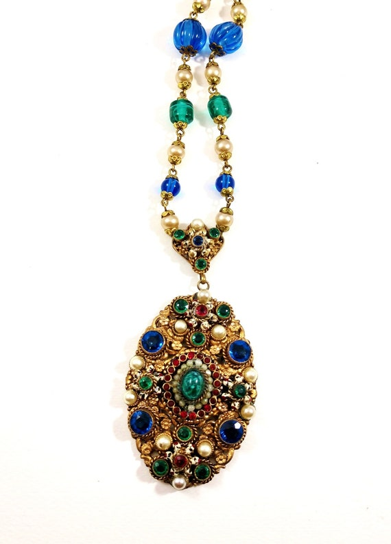 Art Deco Czechoslovakian Necklace, 1930's