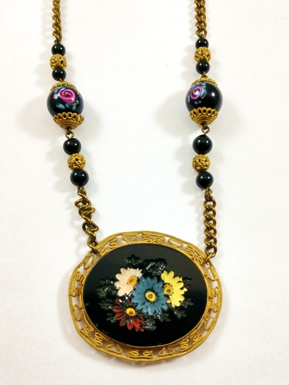 Vintage Czech Necklace, 1930's
