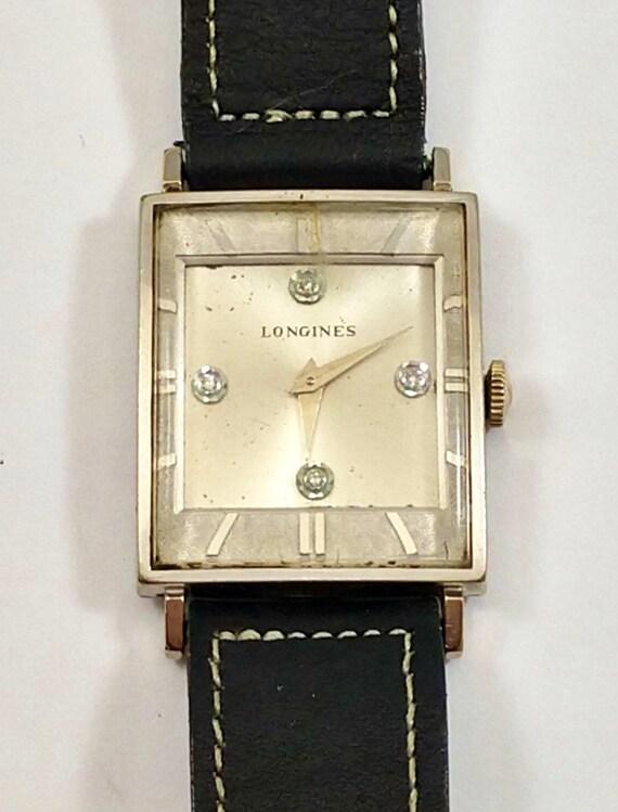 Longines Diamond Dial Vintage Men's Watch, 1950's
