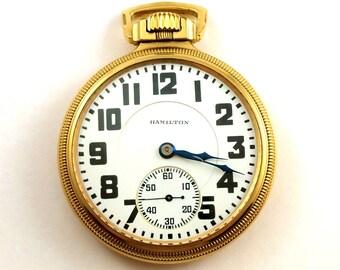 Vintage Hamilton Railroad Pocket Watch, 1920's