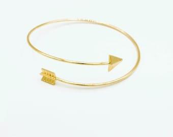 Geometric Statement Stacking Bracelet Stainless Steel Women/'s Men/'s Cuff Bracelet Minimalist Edgy Jewelry Arrow Bangle Bracelet