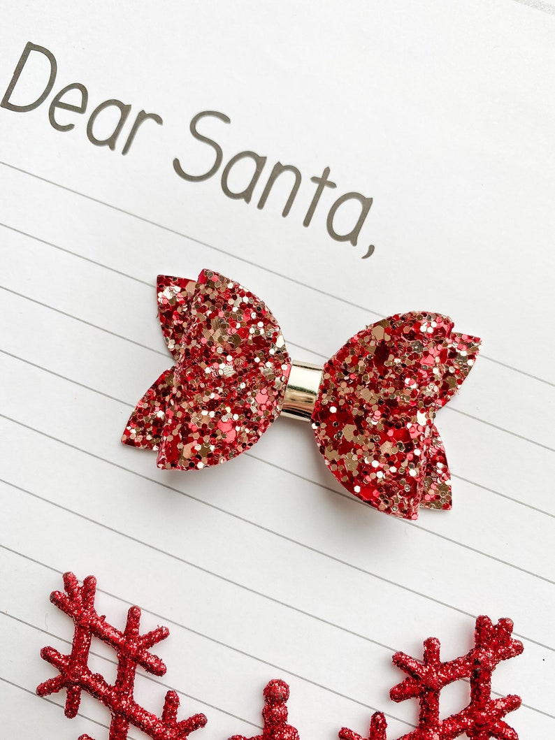 toddler bows party bow Girls Baby red bow girls hair bow baby headbands glitter bow christmas bow baby bow red glitter