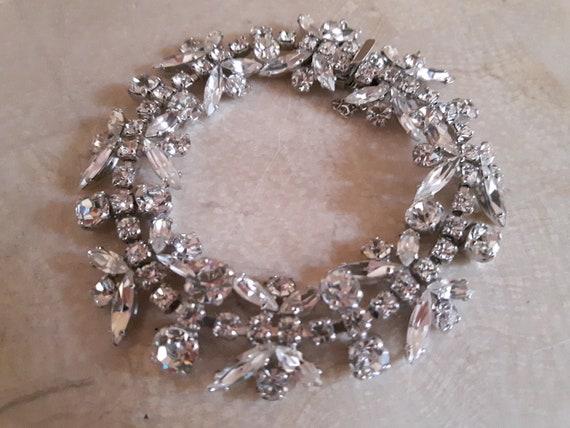 Sherman Clear Crystal Bracelet, Sherman Vintage Cl