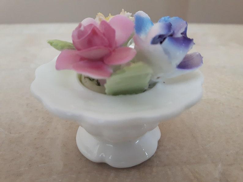 Royal Adderley Miniature Porcelain Flower Figurine Bone China Flowers