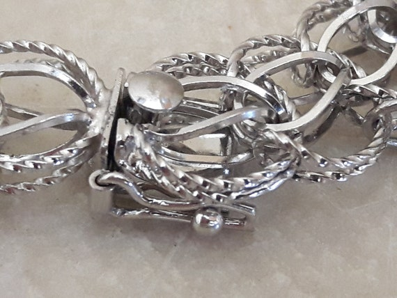 Vintage Sterling Silver Charm Bracelet with 14 Ch… - image 3