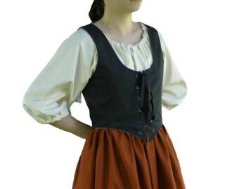 Skirt and Apron 1720 New Rabbit and Hat Sewing Pattern Step by Step Photo Instructions Country Maiden Bodice Fantasy Top
