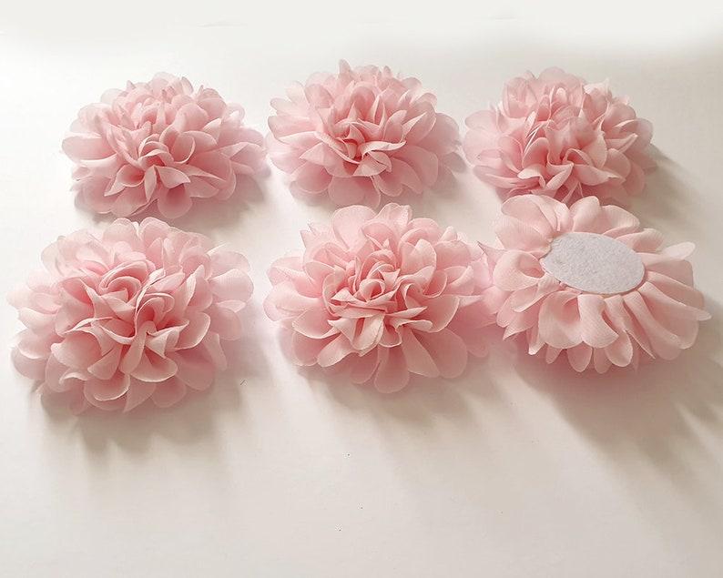 10x Pink Big Flower Craft
